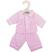 Bigjigs Toys Pink Striped Rag Doll Pyjamas for 38cm Soft Doll - Suitable for 2+ Years