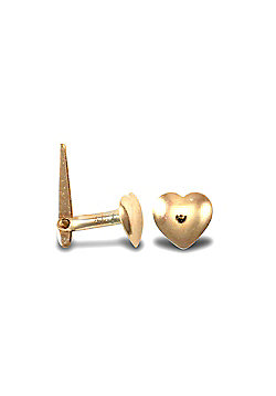 Ladies 9ct Yellow Gold Love Heart Hinged Nose Stud