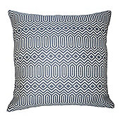 McAlister Smooth Touch Cushion Cover Wedgewood Blue Geometric Design
