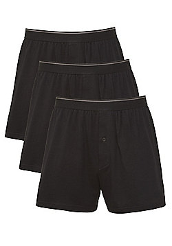 F&F 3 Pack of Jersey Boxer Shorts - Black