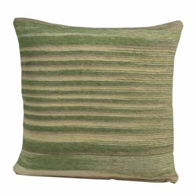 Homescapes Cotton Chenille Tie Dye Green Cushion Cover, 60 x 60 cm