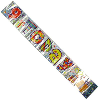 Celebration Party Banner 9th Birthday Decorations 2.6cm Long