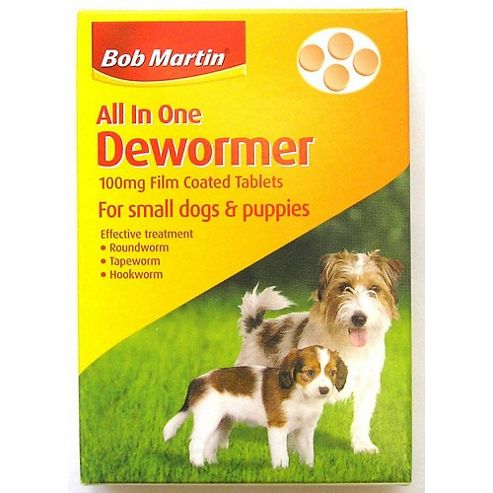 Bob Martin All in One Dewormer for Puppies and Small Dogs (100mg)