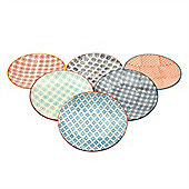 Nicola Spring Patterned Side / Dessert Plates - 180mm (7 Inches) - 6 Designs - Box Of 6
