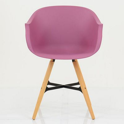 Jacob Purple With Arms Plastic Dining Chair Beech Leg