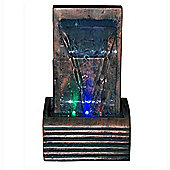 Tumble Indoor Led Light Fountain / Water Feature With Photo Frame - Vert De Gris