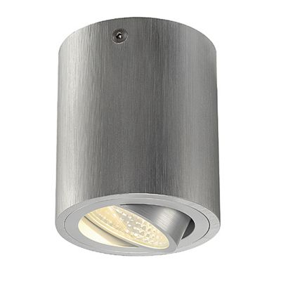 Triledo Round Surface Downlight Aluminium Brushed 6W Including Driver