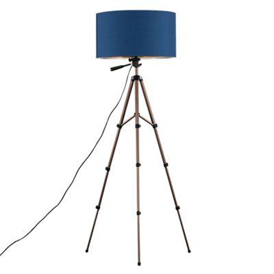 Hogan 134cm Tripod Floor Lamp - Blue