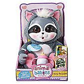 Animal Babies Nursery Deluxe Plush Baby Raccoon