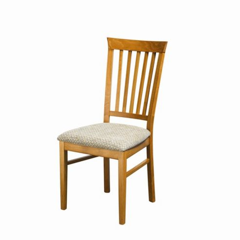 Caxton Tennyson Pair of Slatted Back Dining Chair in Teak