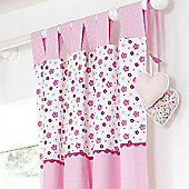 Bed-e-ByesPurfect Pink Tab Top Curtains 132x160