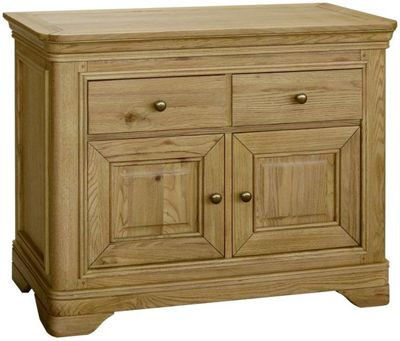 Kelburn Furniture Loire Small Sideboard in Light Oak Stain and Satin Lacquer