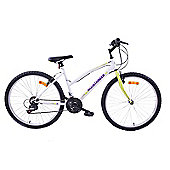 "Arden Mountaineer 26"" Wheel Womens 18 Speed Bike White Green"