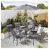Valencia 8 Piece Metal Garden Dining Set