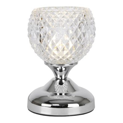 Round Mini Touch Table Lamp, Chrome