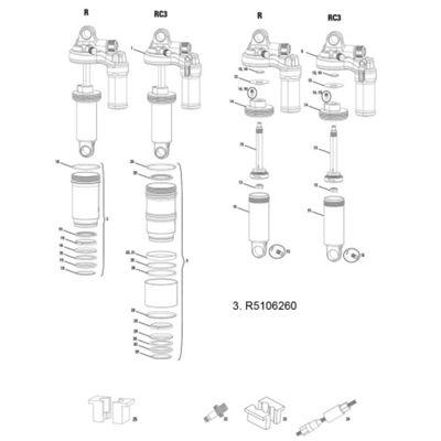 RockShox Air Can Kit Monarch/Plus 11-13 200x57mm High Volume HV3 Black