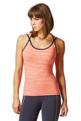 Yoga Triple Back Strap Fitted Vest Coral Space-Cream L