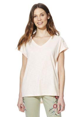 F&F Lace Insert T-Shirt Blush Pink 12