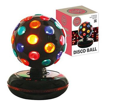 Multi coloured rotating disco ball light