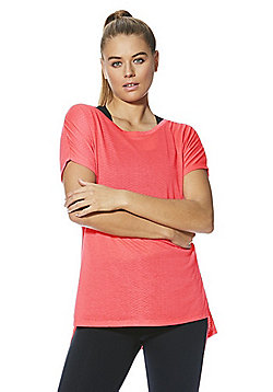 F&F Active Animal Burnout T-Shirt - Coral