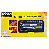 "Rolson Socket Set, 1/4"" Drive, (17-Piece)"