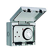 SMJ Electrical Ip66 Single Socket With 24hr Timer