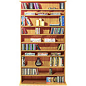 Harrogate - 760 CD / 318 DVD / Blu-ray Media Storage Shelves - Pine