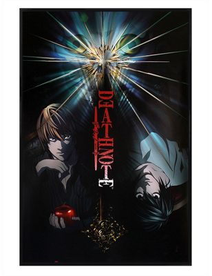 Death Note Duo Gloss Black Framed Poster