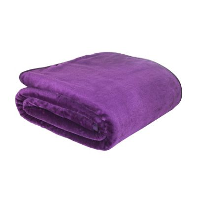 Catherine Lansfield Home Plain Raschel Throw (150x200cm) - Aubergine