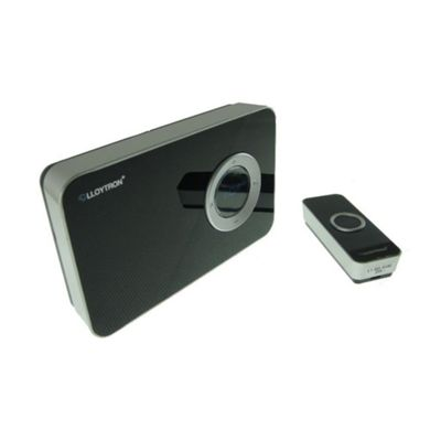Lloytron 32 Melody Wireless Battery Operated Door Chime with MiPs - Black