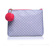 Grey Polka Dot Small Make Up Bag