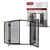 3 Panel Fire Screen With Door by De Vielle