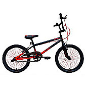 "Tiger UCX2 20"" Alloy Wheel 10"" Hi-Ten Frame BMX Bike Black/Red"