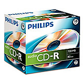 Philips CR7A0NJ10 700MB/80min Pack of Ten CD-R Discs