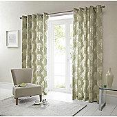"""Woodland Eyelet Curtains W229xL183cm (90x72"""") - Green"""