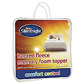 Silentnight Heated Fleece Memory Foam Double Mattress Topper