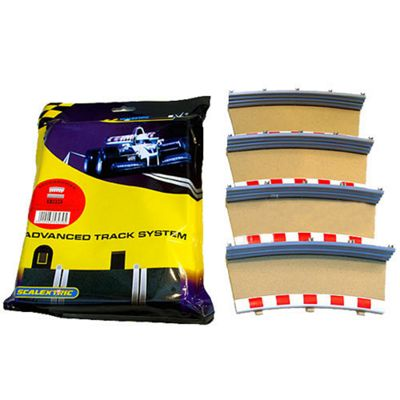 Scalextric C8239 4X Rad2 Outer Borders Barriers