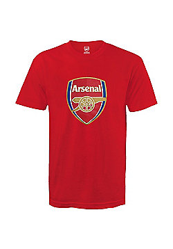Arsenal FC Mens Crest T-Shirt - Red