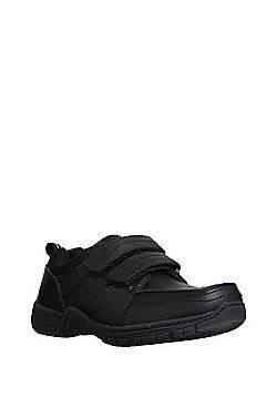 F&F Double Riptape School Shoes - Black