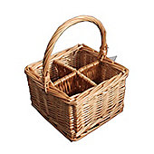 Natural Willow Wicker Cutlery and Glass Divider Basket