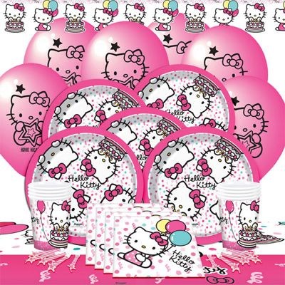 Hello Kitty Party Pack - Deluxe Pack for 8