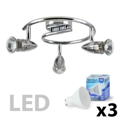 Salsa Bullet Head 3 Way LED Round G Bar Spotlight, Chrome