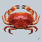 Birthday, Anniversary Greetings Card - Crab Animal Design - Blank