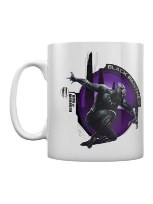 Black Panther King Of Wakanda 10oz Ceramic Mug, White