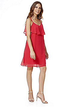 Vero Moda Ruffle Detail Cami Dress - Coral
