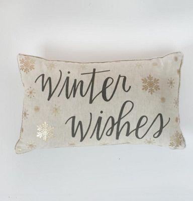 Gallery Winter Wishes Metallic Printed Cushion