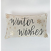 Gallery Winter Wishes Metallic Printed Cushion