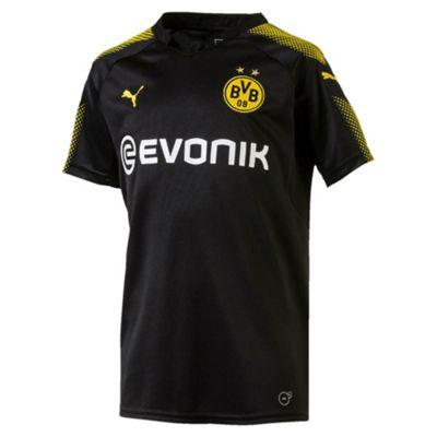 Puma Borussia Dortmund BVB 2017/18 Kids Away Football Shirt Black - 9-10 Years