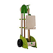 EverEarth Wooden Toy Garden Trolley Set With Tools