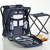 VonShef 2 in 1 Picnic Backpack Stool with Extra Stool